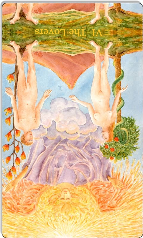 Image of The Lovers card reversed