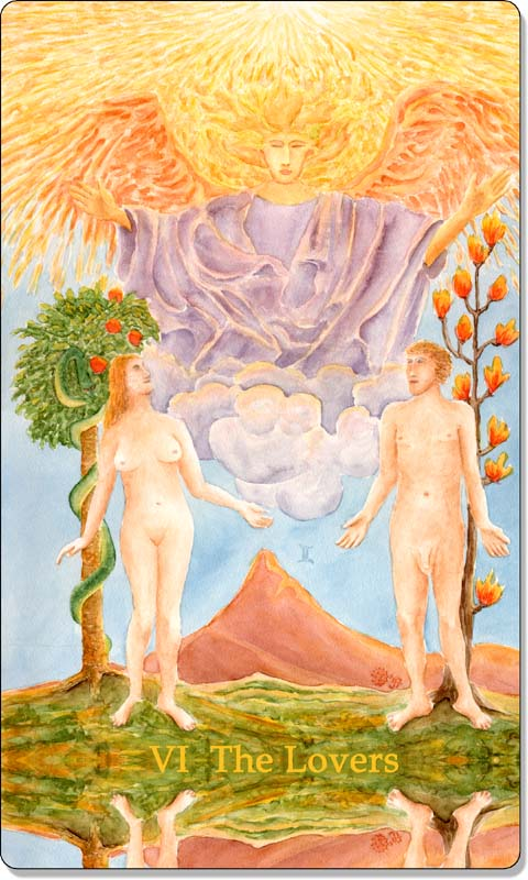 Image of The Lovers card