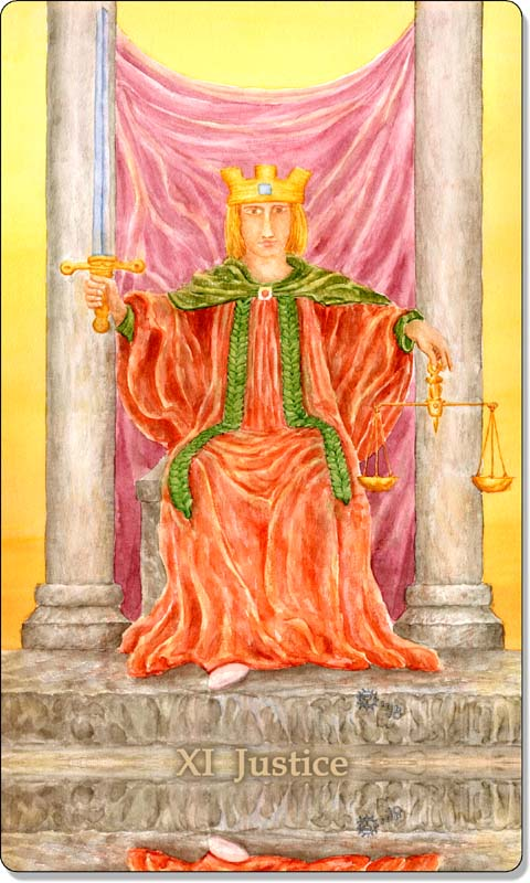 Image of The Justice card