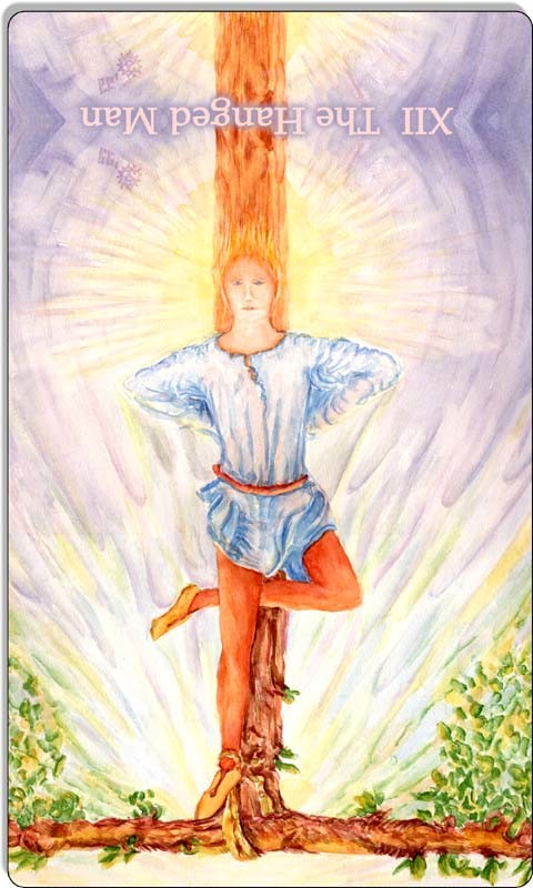 Image of The Hanged Man card reversed