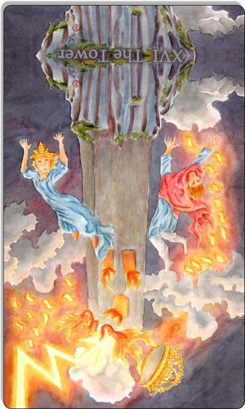 Image of The Tower card reversed