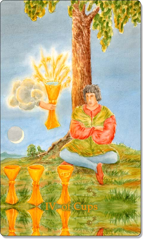 Image of The Four of Cups card
