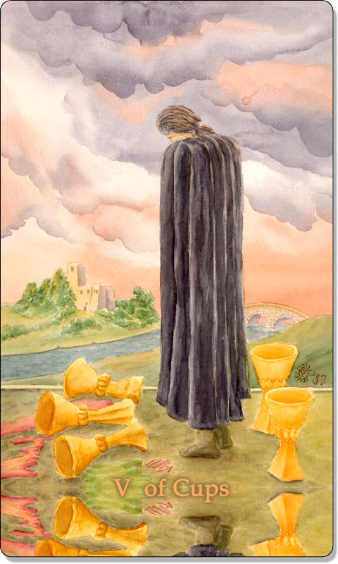 Image of The Five of Cups card