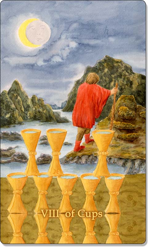 Image of The Eight of Cups card