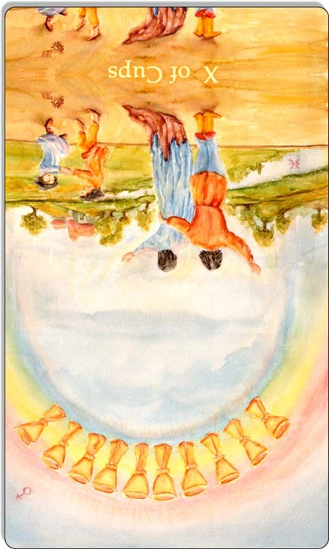 Image of The Ten of Cups card reversed