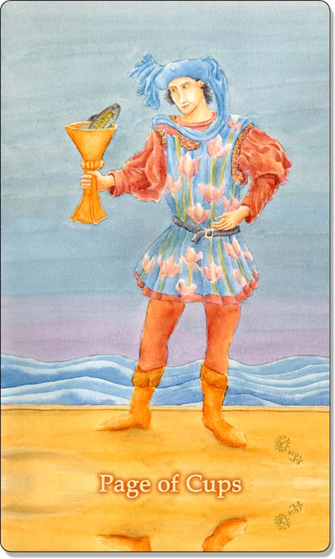 Image of The Page of Cups card