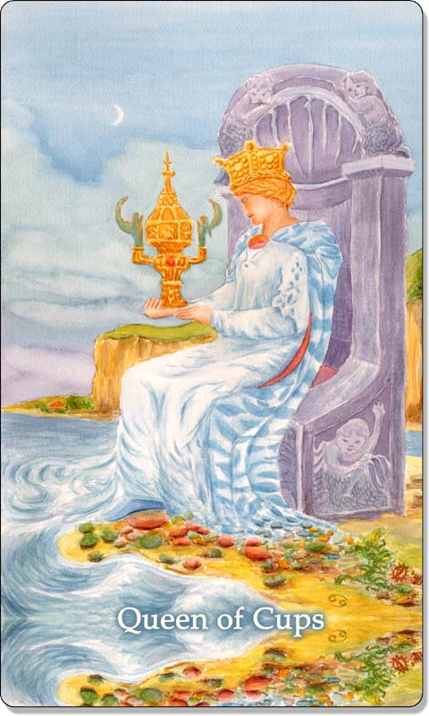 Image of The Queen of Cups card