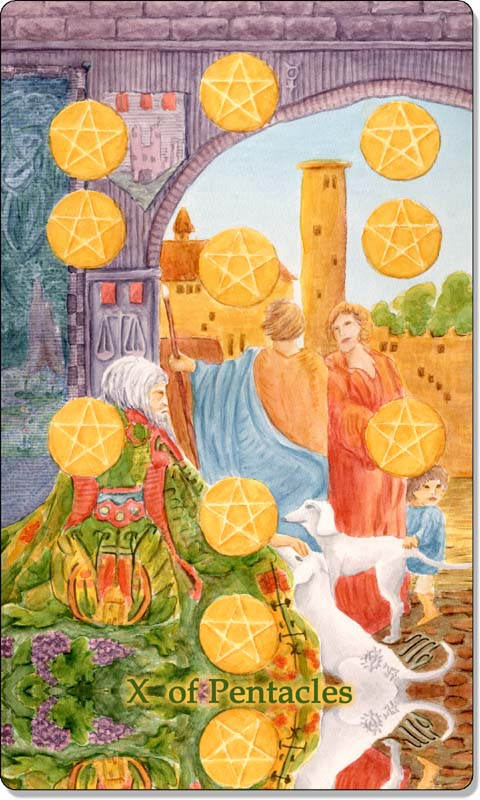 Image of The Ten of Pentacles card