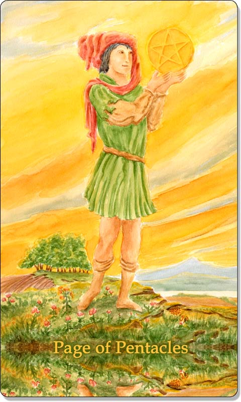 Image of The Page of Pentacles card