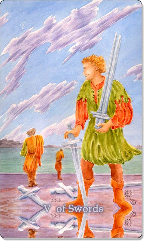 Image of The Five of Swords card
