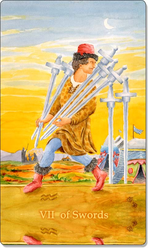 Image of The Seven of Swords card