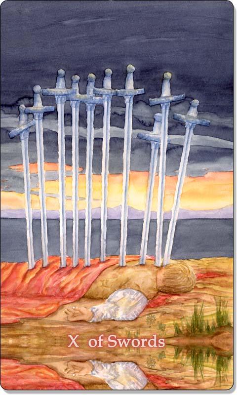Image of The Ten of Swords card