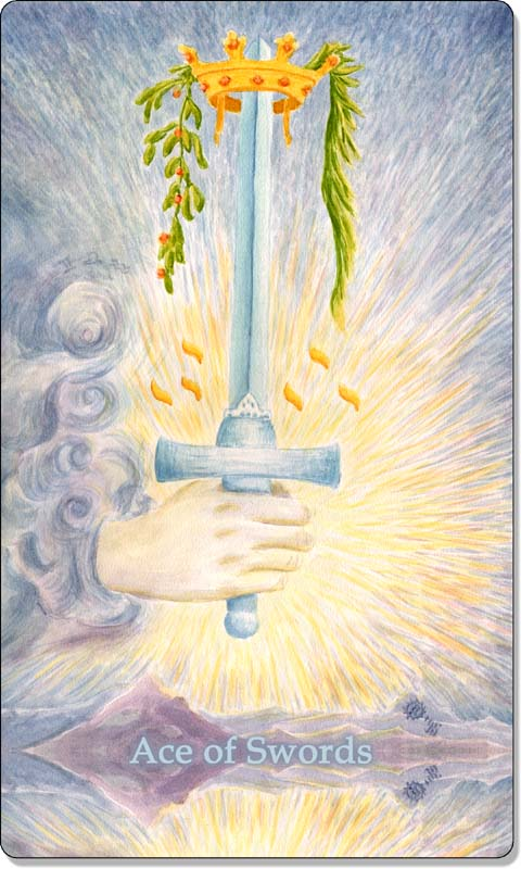 Image of The Ace of Swords card