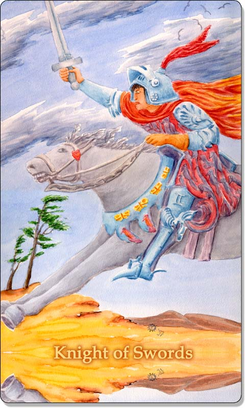 Image of The Knight of Swords card