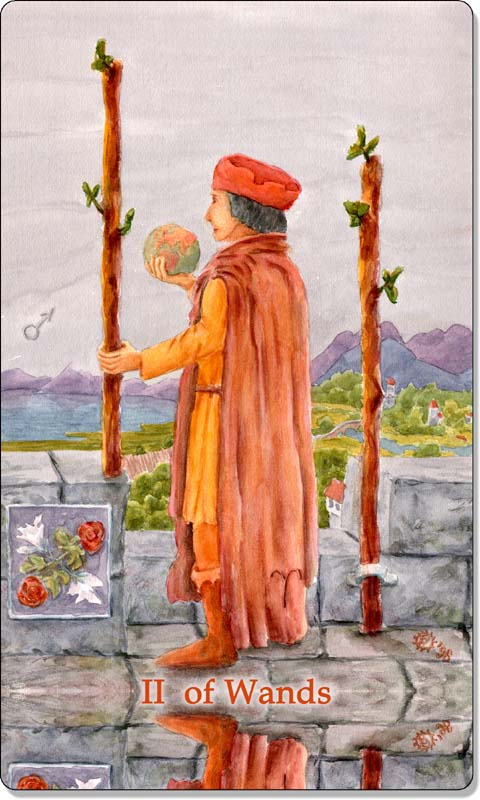 Image of The Two of Wands card