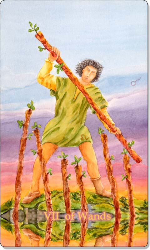 Image of The Seven of Wands card