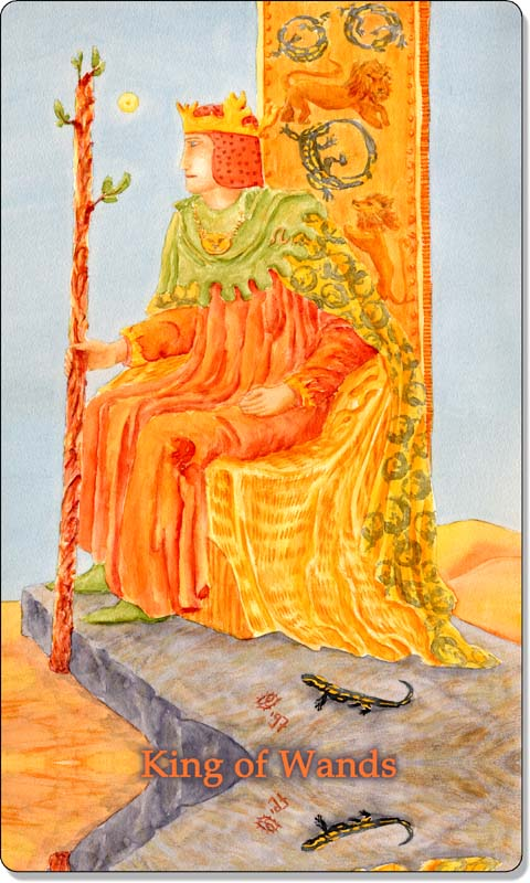 Image of The King of Wands card