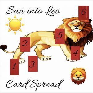 6 card Sun in Leo tarot card spread for August