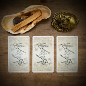 3 card Hungry Ghost Tarot Card Spread for August