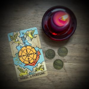 Wheel of Fortune Tarot Card representing Jupiter