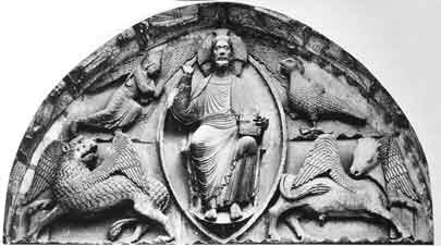 4 Tetramorphs surrounding God