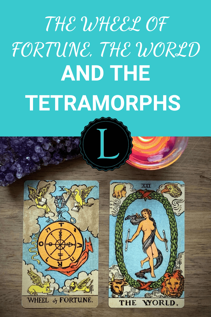 The Wheel of Fortune, The World and the Tetramorphs
